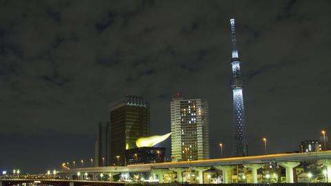 Night at Sumida river, Tokyo, Japan Live Action