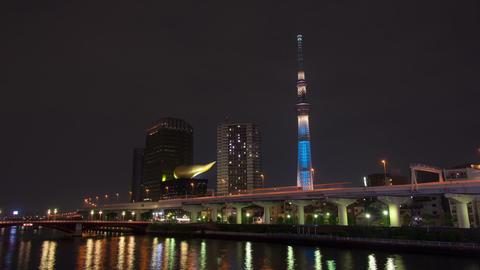 Tokyo Skytree Light up time lapse Tokyo, Japan Footage