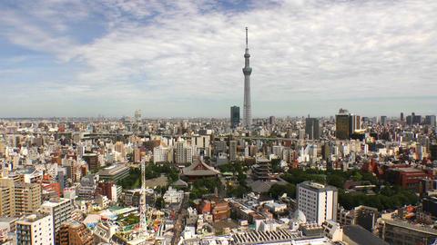 Tokyo Skytree and sensoji-temple time lapse Tokyo, Japan Footage