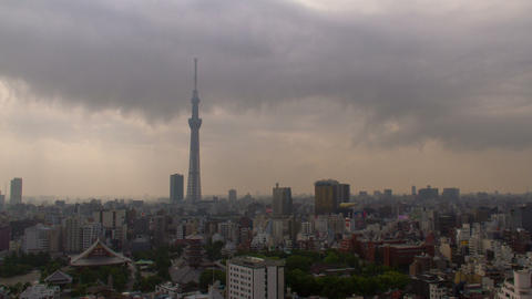 Tokyo Skytree and sensoji-temple time lapse at morning Footage