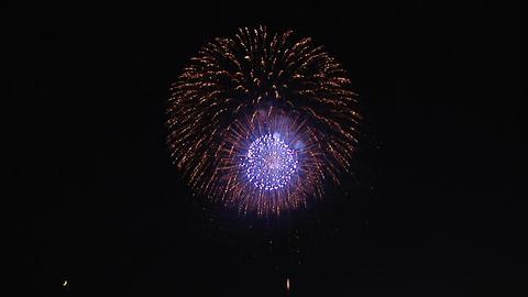 Close up Japanese Fireworks Footage