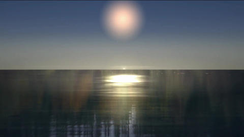 moonlight effect with shine on the water Stock Video Footage