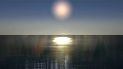 moonlight effect with shine on the water Animation