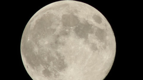Close up Full moon time-lapse Footage