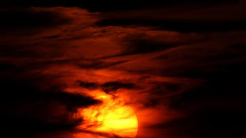 rising sun, time-lapse shot Footage