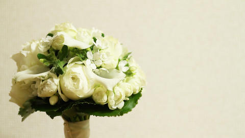 Flower Bouquet white background Footage