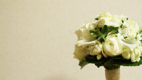 Flower Bouquet white background Footage