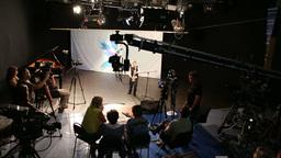 Filming In TV Studio stock footage