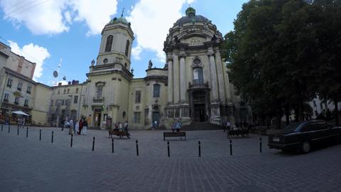 Timelapse Lviv City stock footage