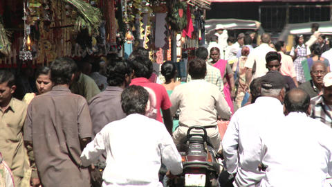 Indian crowded street - Pune Footage