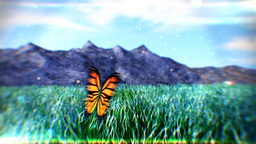 Butterfly Fly Away CG動画素材
