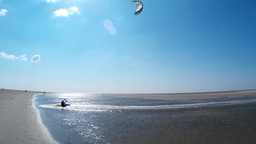 Kitesurfing in St. Peter-Ording – Editorial only Footage