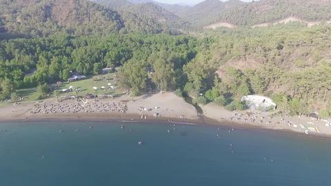 Gunluklu Beach Aerial View stock footage