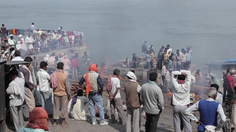 Burning Of Corpses At Ghat In Varanasi India 0
