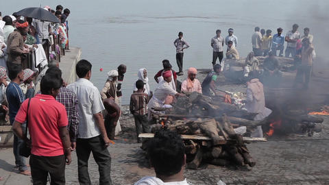 Burning Of Corpses At Ghat In Varanasi India 2