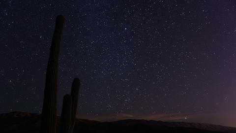 Desert Stars With Clouds 1 stock footage