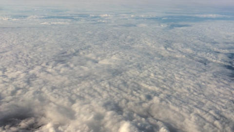 Flight Above The Clouds stock footage