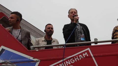 Peter Tatchell Speaking During Gay Pride In Birmingham stock footage