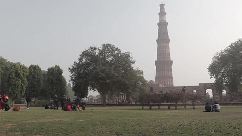 Tower Qutub Minar In New Delhi India