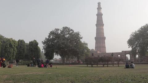 Tower Qutub Minar In New Delhi India