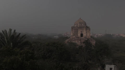 Tower Qutub Minar in New Delhi, India Footage