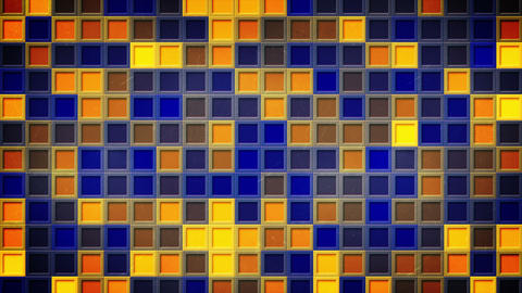 flashing blue yellow squares loopable background 4k (4096x2304) Animation