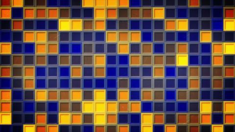 flashing blue yellow squares loopable background 4k (4096x2304) Animation
