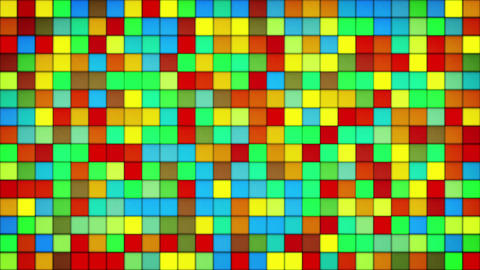 glowing colorful tiles glass mosaic loopable background 4k (4096x2304) Animation