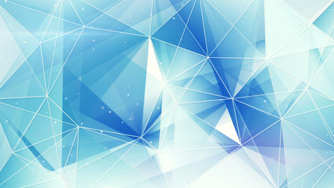 blue and white triangles web pattern loopable 4k (4096x2304) Animation