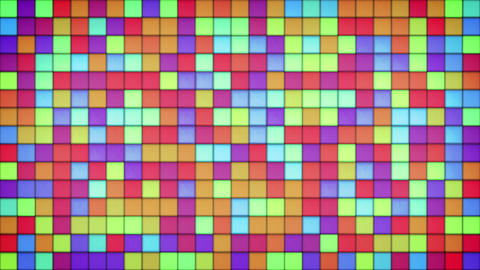 glowing bright colorful glass mosaic loop 4k (4096x2304) Animation
