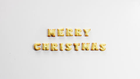 Merry Christmas Crackers Stop Motion Animation 4k (4096x2304) stock footage