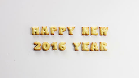 happy new 2016 year crackers stop motion animation 4k (4096x2304) Footage