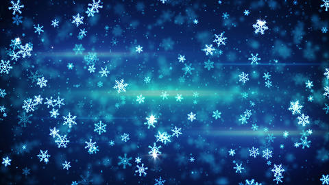 glow snowflakes falling seamless loop animation 4k (4096x2304) Animation