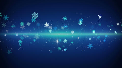 blue light stripe and snowflakes loopable animation 4k (4096x2304) Animation