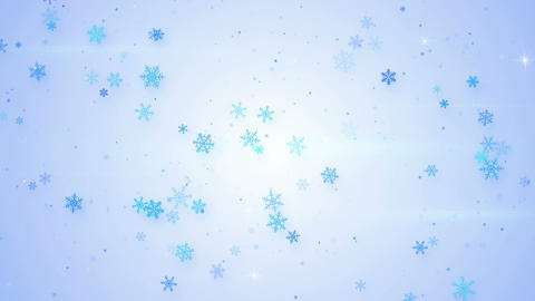 light blue snowfall seamless loop animation 4k (4096x2304) Animation