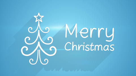 merry christmas greeting last 5s loopable 4k (4096x2304) Animation
