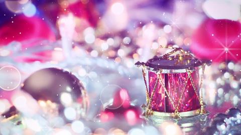romantic christmas decoration panning macro Stock Video Footage
