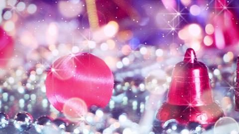 romantic christmas decoration panning macro Footage