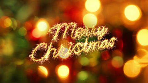 merry christmas sparkler greeting last 10 seconds loop Animation
