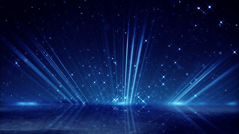 blue light beams and shimmering particles loopable background Animation