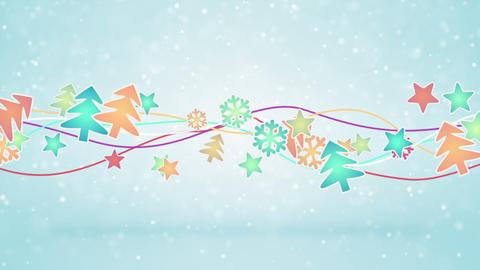 christmas symbols loopable holiday background Animation