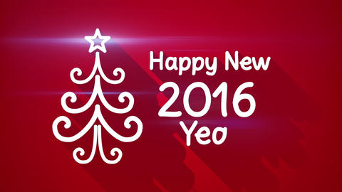 happy new 2016 year greeting loop 4k (4096x2304) Animation