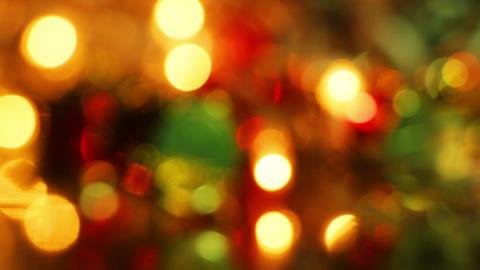defocused christmas light loopable background Footage