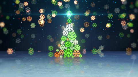 christmas tree shape and reflection loop Animation