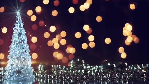 christmas tree and blinking lights seamless loop Footage