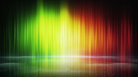 colorful light lines and reflection loop background 4k (4096x2304) Animation