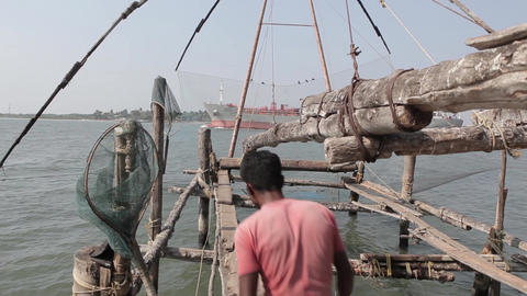 Series Of Chinese Fishing Nets Fort Kochi India 1