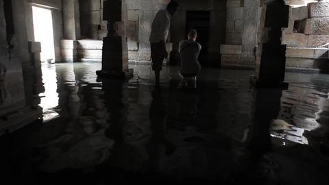 Flooded Indian Temple Hampi India 0