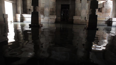 Flooded Indian Temple Hampi India 2