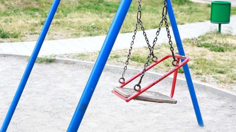 empty swing swaying Footage